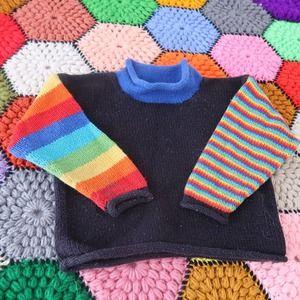 Vintage toddler 2T rainbow stripe knit sweater